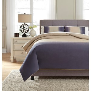 Signature Design by Ashley Bedding Sets King Brandon Indigo Comforter Set
