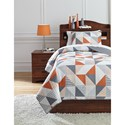 Ashley (Signature Design) Bedding Sets Twin Layne Multi Coverlet Set - Item Number: Q408001T