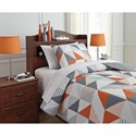 Signature Design by Ashley Bedding Sets Twin Layne Multi Coverlet Set