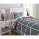 Signature Design by Ashley Bedding Sets Twin Gage Gray/Orange Coverlet Set