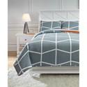 Signature Design by Ashley Bedding Sets Full Gage Gray/Orange Coverlet Set - Item Number: Q409003F