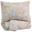 Signature Design by Ashley Bedding Sets Full Jessamine Pink/Orange Coverlet Set