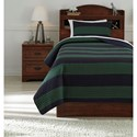 Signature Design by Ashley Bedding Sets Twin Reggie Coverlet Set - Item Number: Q422001T