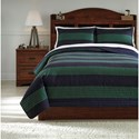 Signature Design by Ashley Bedding Sets Full Reggie Coverlet Set - Item Number: Q422003F
