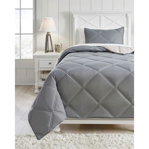 Twin Rhey Tan/Brown/Gray Comforter Set