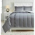Signature Design by Ashley Bedding Sets Full Meghdad Gray/White Comforter Set - Item Number: Q426003F