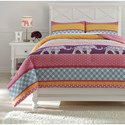 Signature Design by Ashley Bedding Sets Full Meghana Pink/Orange Comforter Set - Item Number: Q429003F