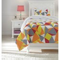 Signature Design by Ashley Bedding Sets Twin Maxie Multi Comforter Set - Item Number: Q430001T