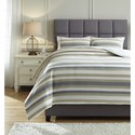 Signature Design by Ashley Bedding Sets Queen Isaiah Gray/Tan Comforter Set - Item Number: Q432003Q