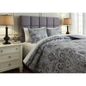 Signature Design by Ashley Bedding Sets King Susannah Blue/Cream Comforter Set