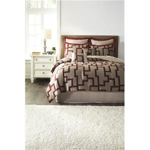 Signature Design by Ashley Bedding Sets Queen Aiza Wine Comforter Set