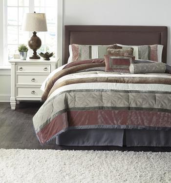 Signature Design by Ashley Bedding Sets King Jasie Gray Top of Bed Set - Item Number: Q438005K