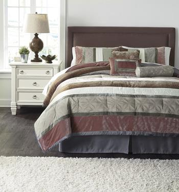 Signature Design by Ashley Bedding Sets Queen Jasie Gray Top of Bed Set - Item Number: Q438005Q