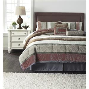 Signature Design by Ashley Bedding Sets Queen Jasie Gray Top of Bed Set