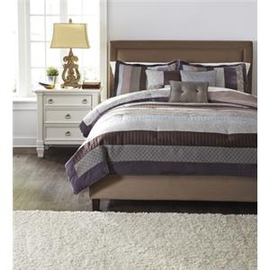 Signature Design by Ashley Bedding Sets King Kady Steel Top of Bed Set