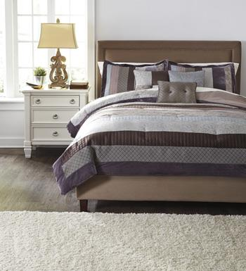 Signature Design by Ashley Bedding Sets Queen Kady Steel Top of Bed Set - Item Number: Q439005Q
