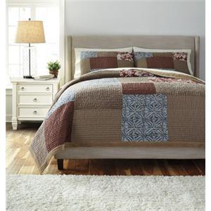StyleLine Bedding Sets Queen Patchwork Plum Comforter Set