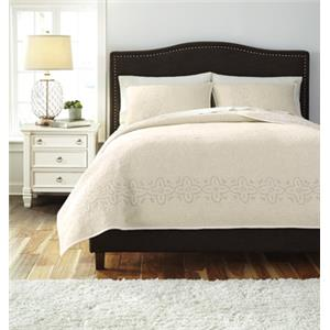Ashley Signature Design Bedding Sets Queen Stitched Off White Comforter Set