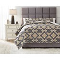 Signature Design by Ashley Bedding Sets King Scylla Brown/Black Comforter Set - Item Number: Q473003K