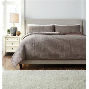 Signature Design by Ashley Bedding Sets King Stitched Chocolate Comforter Set