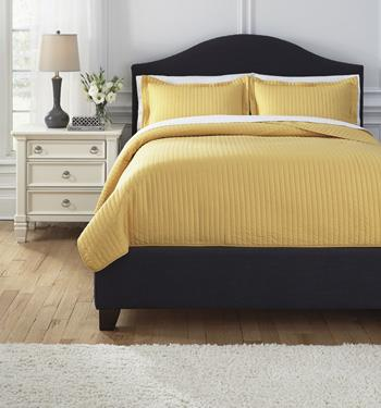 Signature Design by Ashley Bedding Sets King Raleda Yellow Comforter Set - Item Number: Q494003K