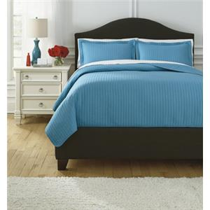 Signature Design by Ashley Bedding Sets King Raleda Turquoise Coverlet Set
