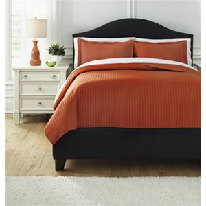 Signature Design by Ashley Bedding Sets Queen Raleda Orange Coverlet Set