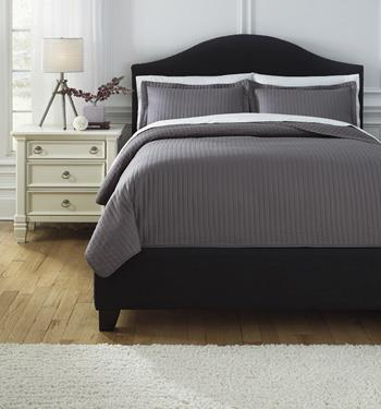 Signature Design by Ashley Bedding Sets Queen Raleda Gray Comforter Set - Item Number: Q498003Q