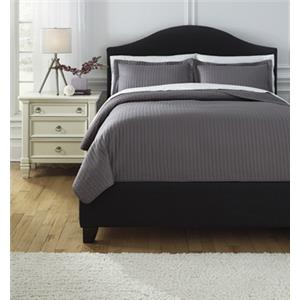 Signature Design by Ashley Bedding Sets Queen Raleda Gray Coverlet Set