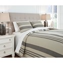 Signature Design by Ashley Bedding Sets King Schukei Natural/Charcoal Comforter Set