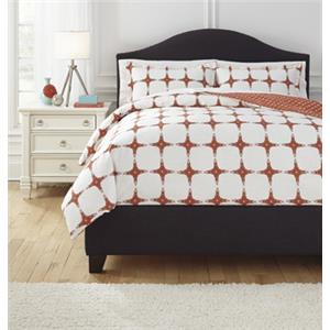 Signature Design by Ashley Bedding Sets Queen Cyrun Orange Duvet Set