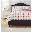 Ashley (Signature Design) Bedding Sets Queen Cyrun Orange Duvet Set - Item Number: Q706003Q