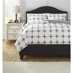Signature Design by Ashley Bedding Sets Queen Cyrun Gray Duvet Set