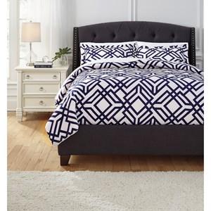 Superb Signature Design By Ashley Bedding Sets Queen Imelda Navy Comforter Set