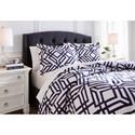 Signature Design by Ashley Bedding Sets Queen Imelda Navy Comforter Set