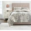 Signature Design by Ashley Bedding Sets King Addey Bone/Charcoal Comforter Set - Item Number: Q716003K