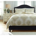 Signature Design by Ashley Bedding Sets Queen Fairholm Natural Duvet Cover Set - Item Number: Q728013Q