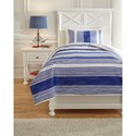 Ashley (Signature Design) Bedding Sets Twin Taries Blue Duvet Cover Set - Item Number: Q729011T