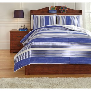 Full Taries Blue Duvet Cover Set