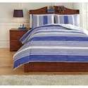 Signature Design by Ashley Bedding Sets Full Taries Blue Duvet Cover Set - Item Number: Q729013F