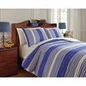 Signature Design by Ashley Bedding Sets Full Taries Blue Duvet Cover Set