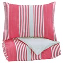 Signature Design by Ashley Bedding Sets Twin Taries Pink Duvet Cover Set