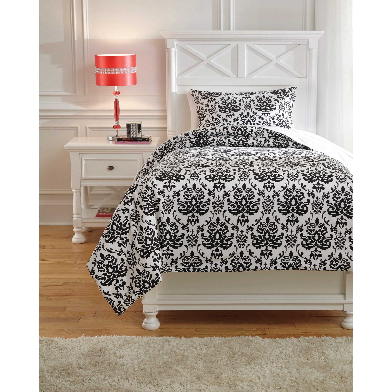 ashley signature design bedding sets twin alano black duvet