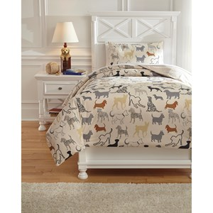 Signature Design by Ashley Bedding Sets Twin Howley Multi Duvet Cover Set
