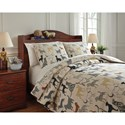 Signature Design by Ashley Bedding Sets Full Howley Multi Duvet Cover Set