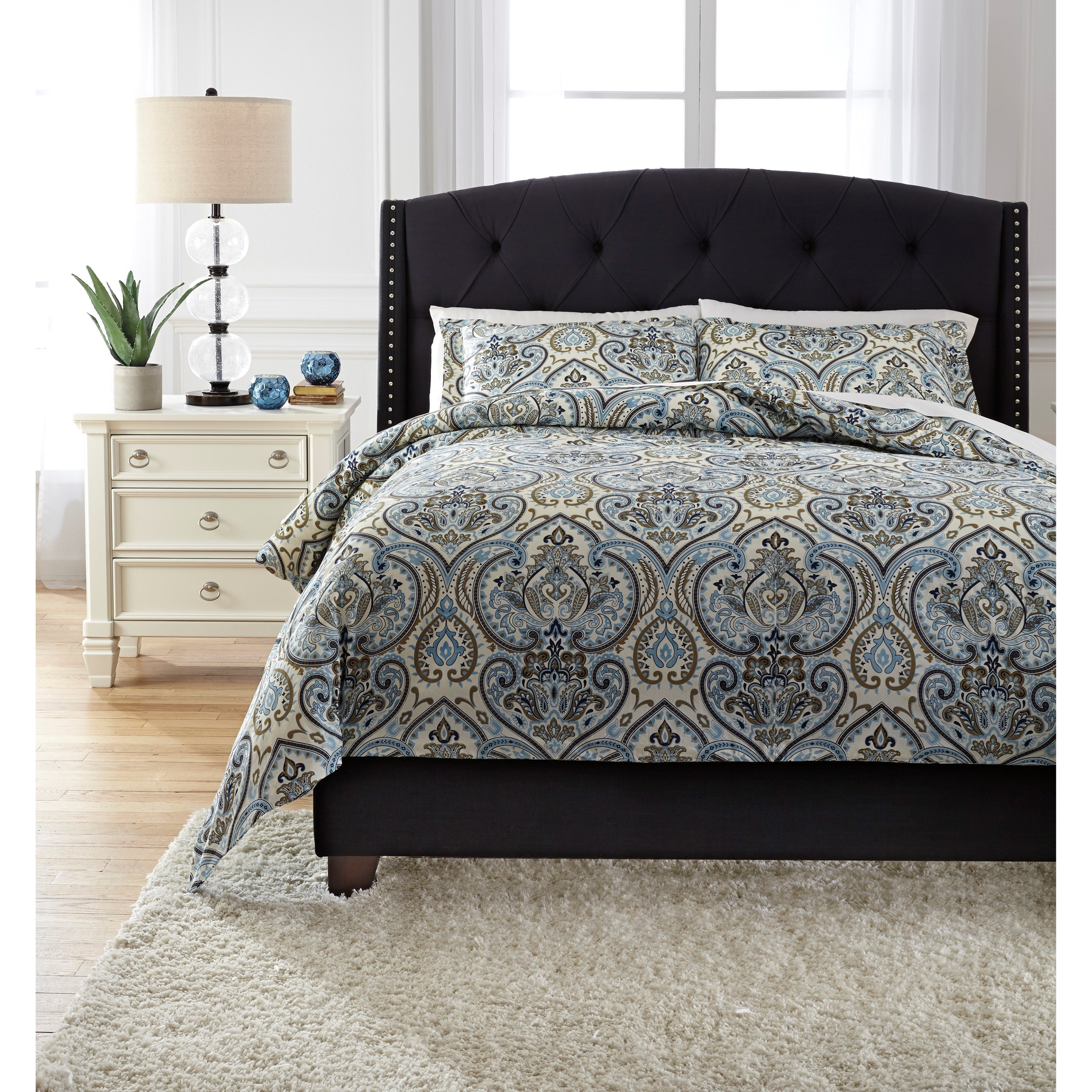 Signature Design by Ashley Bedding Sets King Soliel Multi Duvet Cover Set - Item Number: Q740003K