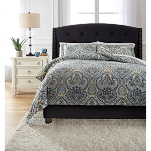 Signature Design by Ashley Bedding Sets Queen Soliel Multi Duvet Cover Set