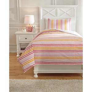 Signature Design by Ashley Bedding Sets Twin Genista Multi Duvet Cover Set