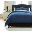 Signature Design by Ashley Bedding Sets Queen Sensu Denim Cover Set - Item Number: Q742003Q