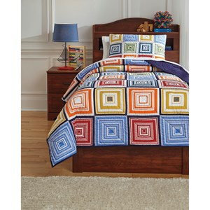 Signature Design by Ashley Bedding Sets Twin Tazzoni Multi Coverlet Set
